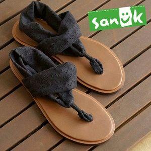 Sanuk Shoes - Sanuk Black Yoga Sling Sandals 7 8 9