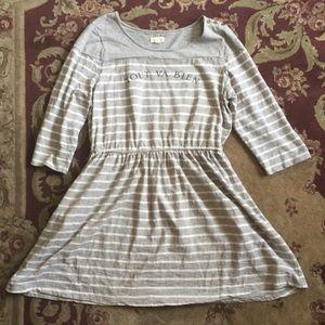 Maison Jules grey and white striped dress