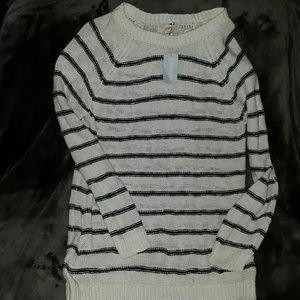 Forever 21 Sweaters - NWT ~ FOREVER 21 Plus Cream & Black Long Sweater