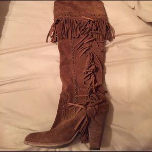 Zigi Soho Shoes - Fringe heel boots Sz 7