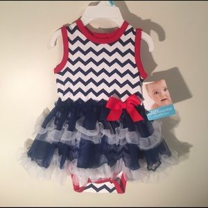 Baby Essentials Other - Nautical NEW 6 Months Ruffle Onsie