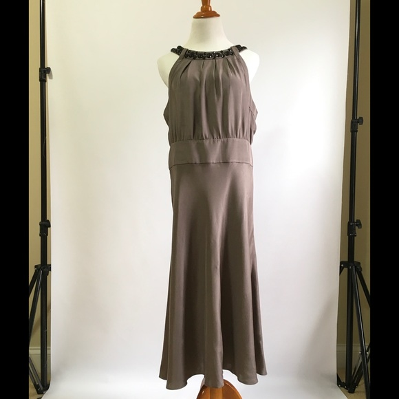 Banana Republic Dresses Formal Dress 14 Light Brown Plus Poshmark