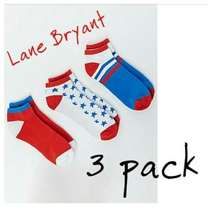 Lane Bryant Accessories - 3pk Lane Bryant ankle socks 8 9 10 11 12 American
