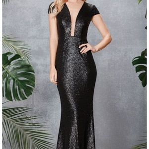 NWT Stunning Sequin Gown by Dress the Population