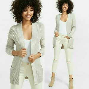 NWT Long Thick Knit Pocketed Cardigan