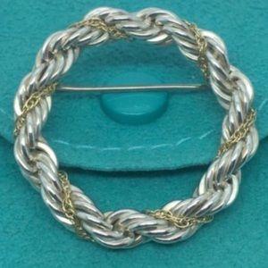 Tiffany & Co. Jewelry - Tiffany & co. 18k gold & silver pin brooch!!!