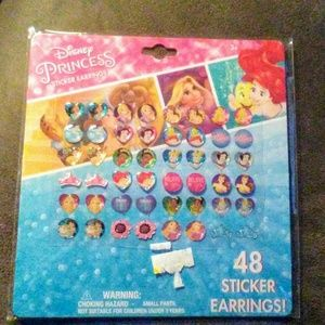 48 Disney Princess Sticker Earrings