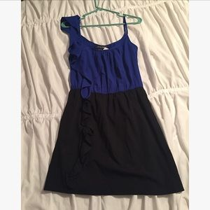 Dresses & Skirts - Blue and black dress!