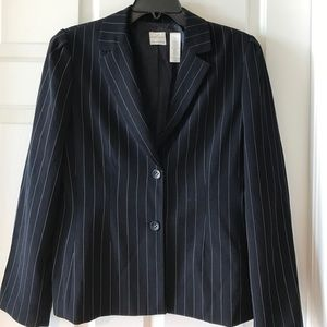 Emma James Jackets & Blazers - Navy and white striped blazer