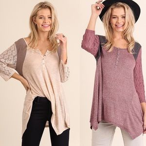 Leoninus Tops - Soft Lace Sleeves Top