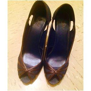 Mossimo Supply Co. Shoes - Denim Peep Toe Pumps
