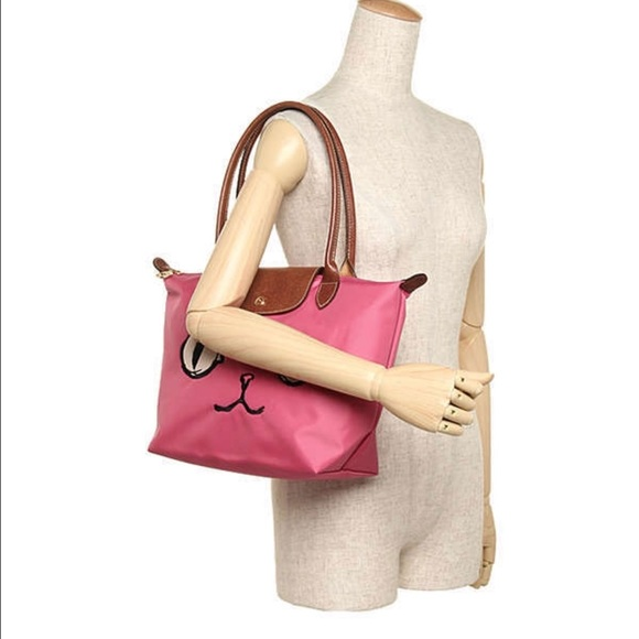 a9a061cc1c05 Longchamp Handbags - Longchamp Le Pliage Miaou Cat small bag longhandle