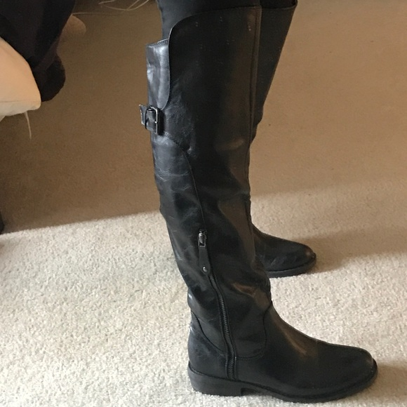29650befe1a Over the knee combat boots Sz 7 1/2