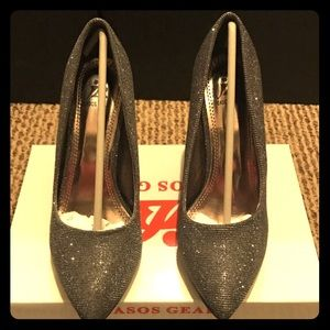 Asos Gear Shoes - Brand new! Metallic gray heels in box size 7