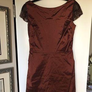 Sara Dresses & Skirts - Sara Campbell NEW Beaded Burnt Orange Dress Size 4