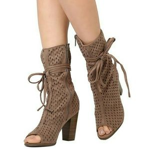 New taupe booties