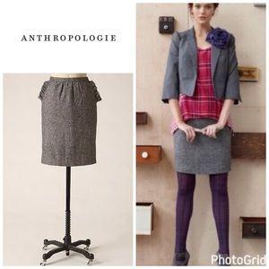 Anthropologie Twilit Skirt - tweed pencil