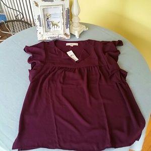 LOFT plum blouse