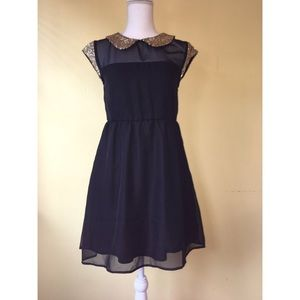 Tulle Dresses & Skirts - Tulle sequin Peter Pan collar dress XS