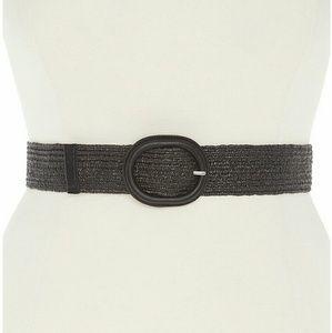 Lane Bryant Accessories - Lane Bryant Straw stretch belt black 2x 3x