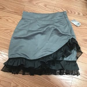 twelve by twelve Dresses & Skirts - Twelve by Twelve Grey and Black Ruffle Skirt