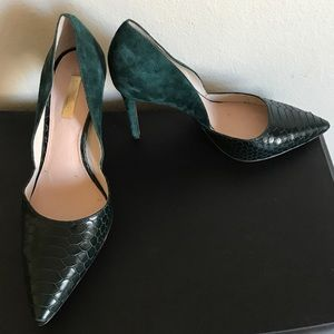 Louise et Cie forest green pumps