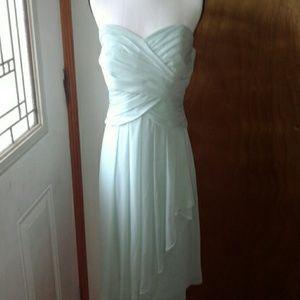Formal prom or bridesmaid dress mint green 12 euc