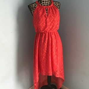 Emma Michele Dresses & Skirts - 🎉🎉🎉LAST CHANCE ... Coral Hi Lo Dress