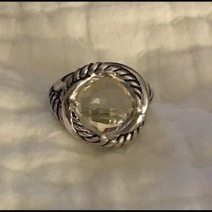 David Yurman Jewelry - David Yurman /SS/11mm Lemon Citrine InfinityRing