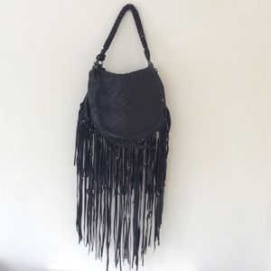 Urban Code Black Fringe Bag