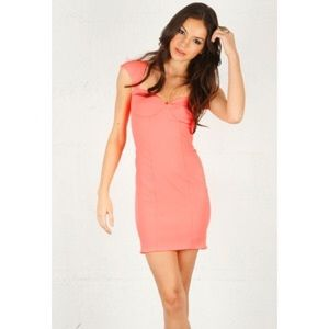 Torn by Ronny Kobo Dresses & Skirts - Torn by Ronny Kobo Hot Pink Minnie Crepe Dress