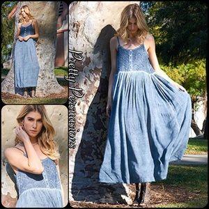 Pretty Persuasions Dresses & Skirts - NWT Blue Spaghetti Strap Flowy Maxi Dress