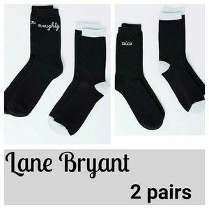 Lane Bryant Accessories - Lane Bryant crew socks 2 pack 8 9 10 11 12