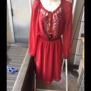 Altuzarra Dresses & Skirts - Moroccan Style red Dress Size 6 AltuZarra brand