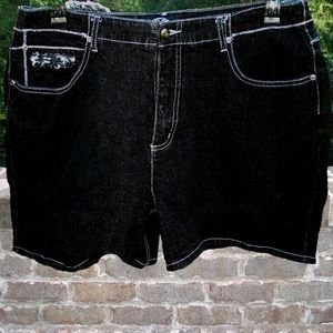 Fulu the Collection Pants - Fulu the Collection Black Denim Shirts - Size 18W