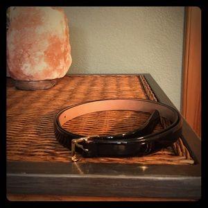 J. Crew patent leather belt
