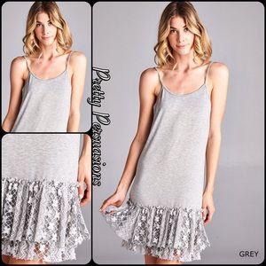 Pretty Persuasions Dresses & Skirts - NWT Gray Double Lace Trim Tutu Dress Extender