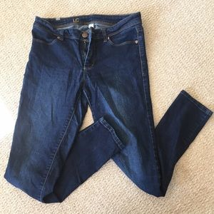 Ladies skinny jeans LC dark blue stretch denim