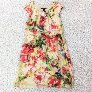 Robbie Bee Dresses & Skirts - Robbie Bee floral chiffon blouson shift dress 10