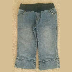 Oh! Mamma Denim - Oh! Mamma Maternity Denim Blue Jean Capris Size S