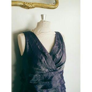 London Times Dresses & Skirts - Purple High Waist Cocktail Dress