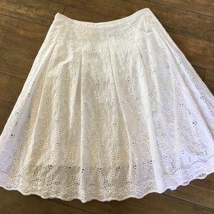 T Tahari Dresses & Skirts - Tahari off white eyelet skirt.