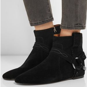 Isabel Marant Etoile Suede ankle booties.