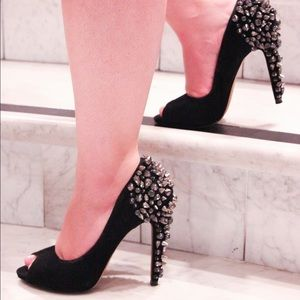 Sam Edelman Shoes - Sam Edelman Lorissa Spiked Peep Toe Heels