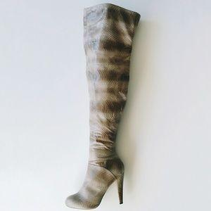 Victoria's Secret Shoes - Victoria's Secret Snake Thigh High Boots