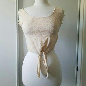 H&m floral lace crop top