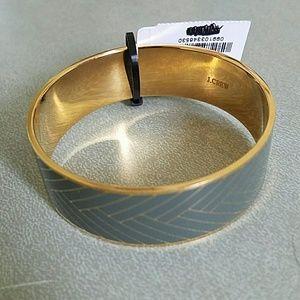 J. Crew Jewelry - NWT J. Crew Etched Enamel Bangle Bracelet