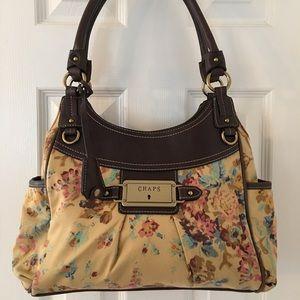 Chaps Handbags - 🛍 Chaps Brown Floral Shoulder Bag
