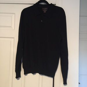 Black Brown 1826 Other - Black Brown 1826 black cashmere collared sweater