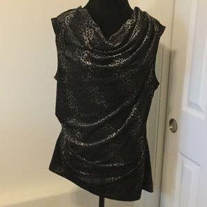 Calvin Klein Plus Size Velvet Sleeveless Top